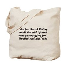 I Hacked Sarah Palin Tote Bag