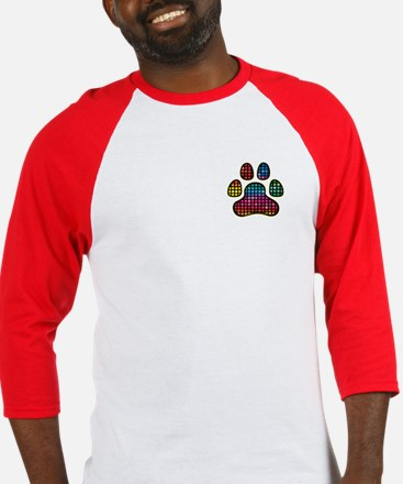 Stained Glass Rainbow Paw Baseball Jersey