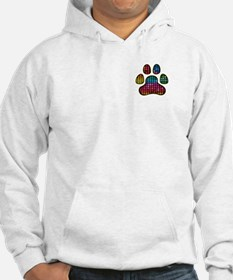 Stained Glass Rainbow Paw Hoodie
