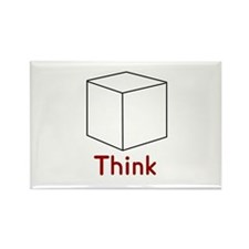 Think Outside the Box Rectangle Magnet