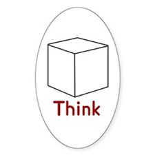 Think Outside the Box Oval Decal