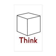 Think Outside the Box Rectangle Decal