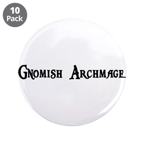 """Gnomish Archmage 3.5"""" Button (10 pack)"""