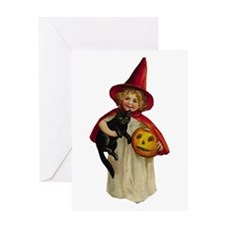 Red Girl Witch Greeting Card
