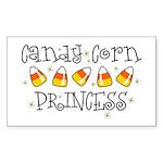 Candy Corn Princess Rectangle Sticker