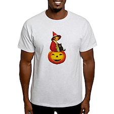 Girl Witch on Pumpkin T-Shirt