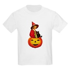 Girl Witch on Pumpkin T-Shirt