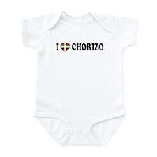 I Heart Chorizo Infant Creeper
