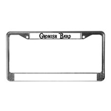 Gnomish Bard License Plate Frame