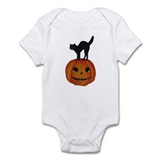 Black Cat on Jack-O-Lantern Infant Bodysuit