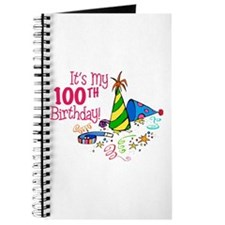 It's My 100th Birthday (Party Hats) Journal