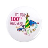 100th birthday Buttons