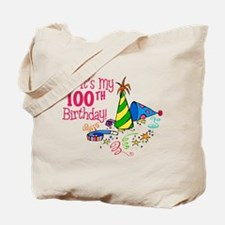 It's My 100th Birthday (Party Hats) Tote Bag