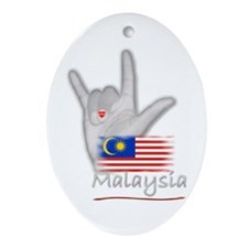 I Love You - Malaysia - Oval Ornament