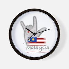 I Love You - Malaysia - Wall Clock
