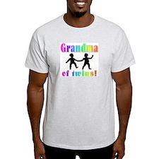 Grandma of Twins Ash Grey T-Shirt