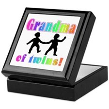 Grandma of Twins Keepsake Box