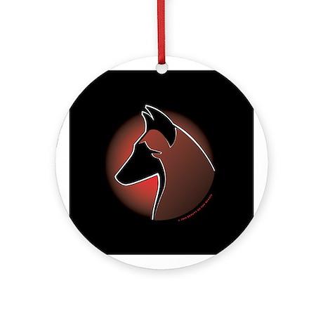 Red Sun Malinois Ornament (Round)