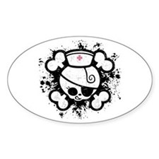 Dolly RN Splat Oval Decal