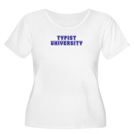 Typist University Women's Plus Size Scoop Neck T-S