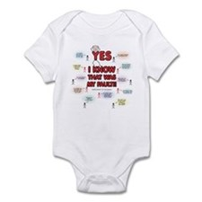 Yes, I Know That Was My Fault! Infant Bodysuit