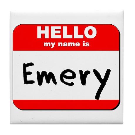 Hello my name is Emery Tile Coaster