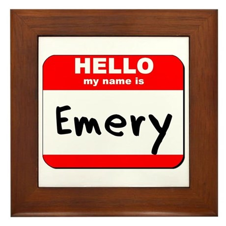 Hello my name is Emery Framed Tile