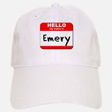 Hello my name is Emery Baseball Baseball Cap