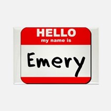 Hello my name is Emery Rectangle Magnet
