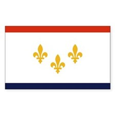 New Orleans, Louisiana Rectangle Decal