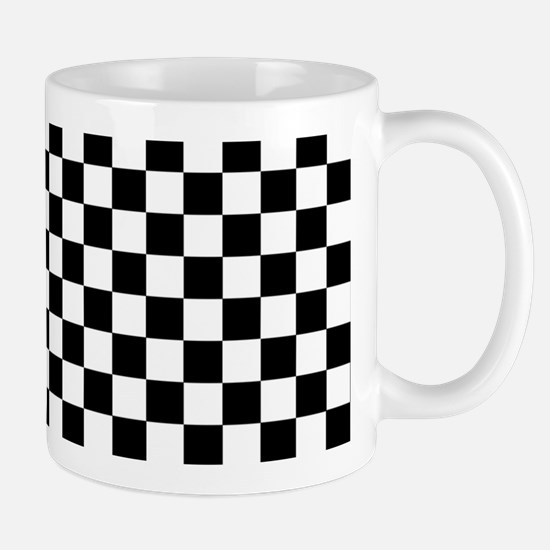 Black White Checkered Mugs