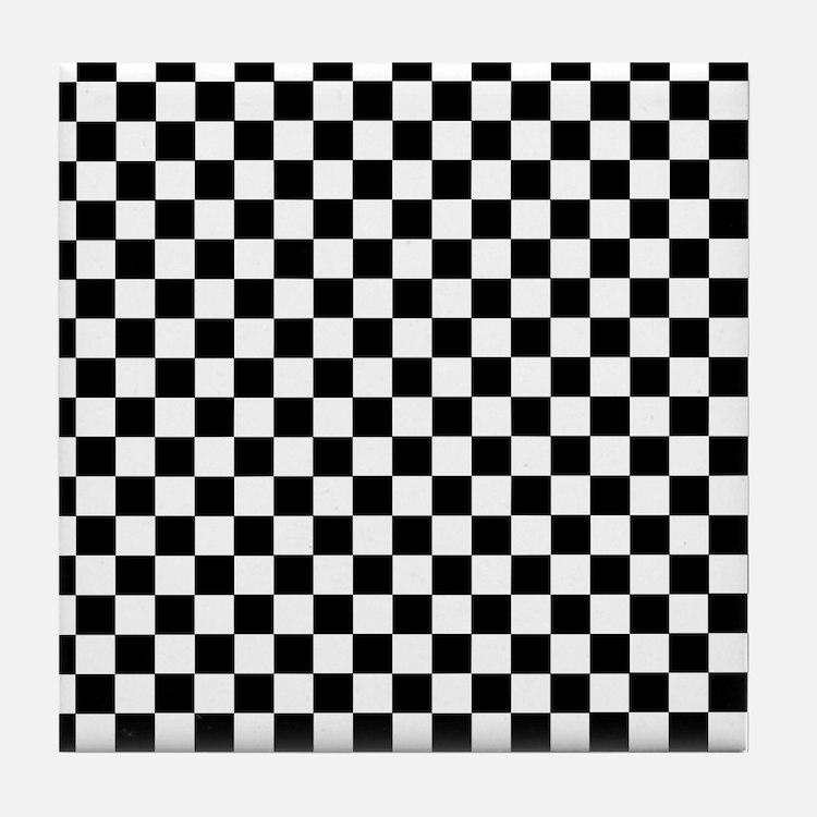 checkered coasters cork puzzle tile coasters cafepress. Black Bedroom Furniture Sets. Home Design Ideas