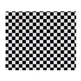 Black white checkered Fleece Blankets