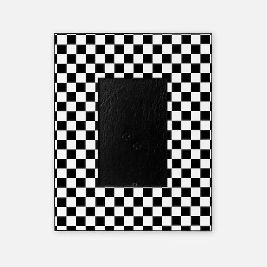 Black White Checkered Picture Frame