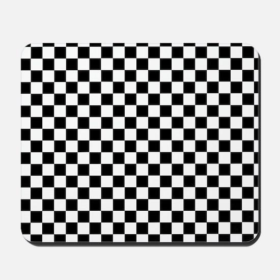Black White Checkered Mousepad