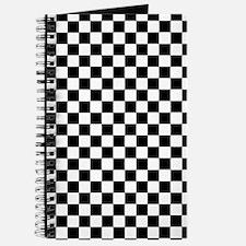 Black White Checkered Journal