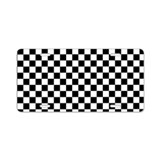 Black and white checkered License Plates