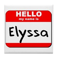 Hello my name is Elyssa Tile Coaster