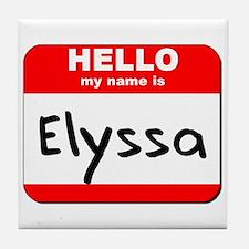Hello my name is Elyssa Tile Coaster
