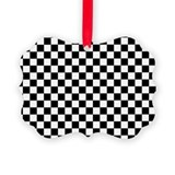 8x10 black and white checkered Picture Frame Ornaments