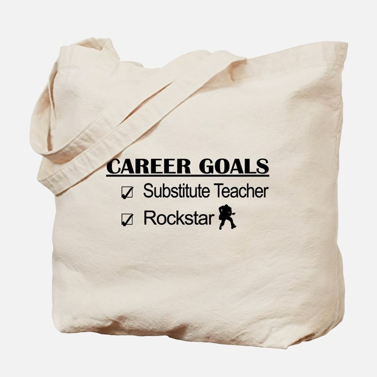 Substitute Teacher Career Goals - Rockstar Tote Ba