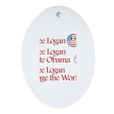 See Logan Vote Obama Oval Ornament