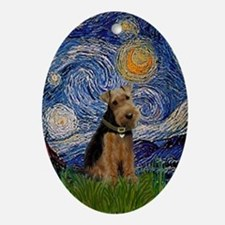 Starry Night Welsh Terrier Keepsake (Oval)