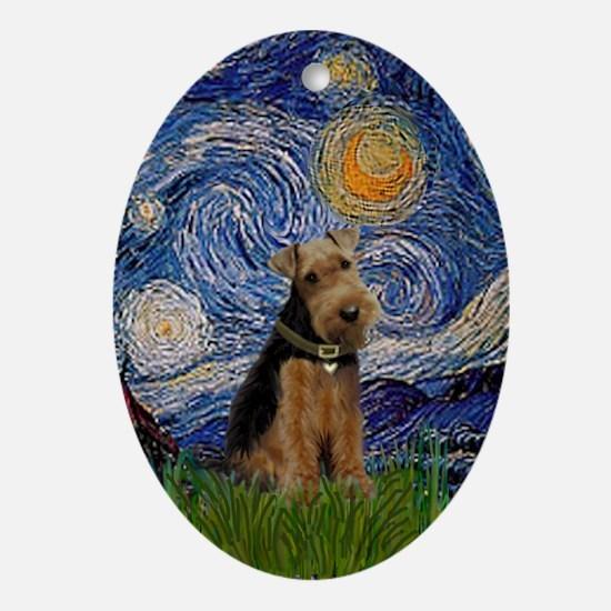 Starry Night Welsh Terrier Keepsake (Oval)