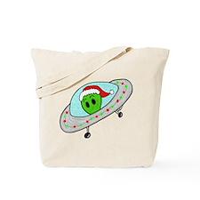 UFO Santa Alien Tote Bag