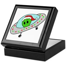 UFO Santa Alien Keepsake Box