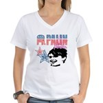 Palin Power Women's V-Neck T-Shirt