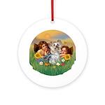 Angels and Yorkshire Terrier Keepsake (Round)