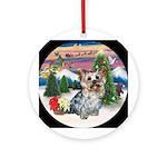 Yorkshire Terrier Christmas Keepsake (Round)