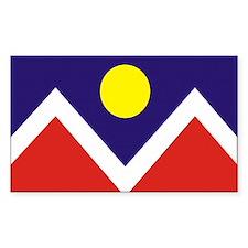 Denver City Flag Rectangle Decal